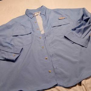 Columbia Sportswear light blue jacket/shirt